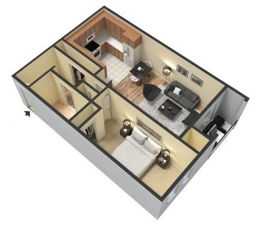 3D Furnished. 1 Bedroom 1 Bathroom Standard. 576 sq. ft.